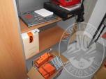 Immagine di TAVOLO ROTONDO - 3 ARMADI - MOBILE A 6 VANI - PC  - REGISTRATOER - MACCHINA CAFFE' - LOTTO 1+2