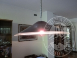 Immagine di Lampadario in vetro a campana.