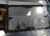 Liq. M.M. n. 7/2017 - Lotto 60: Specchiera (vetro rotto) con cornice metallo lavorato cm. 43 x 63